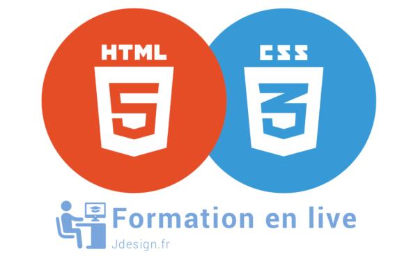logo html5 et cc3 pour la formation en ligne Jdesign