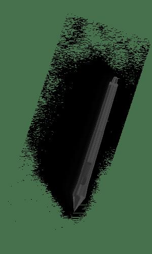 Stylo noir pour dessiner avec un tablette graphique. le bas est ergonomique et le font de l'image est en transparence.